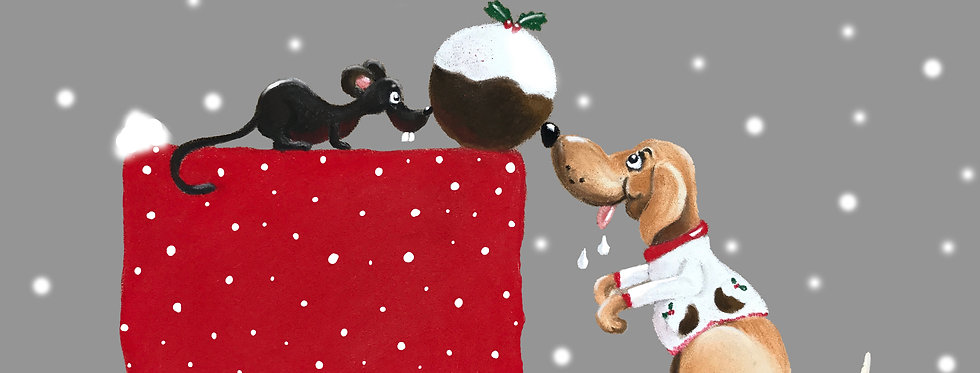 Ted & The Christmas Pud - Pack of Ten Christmas Cards