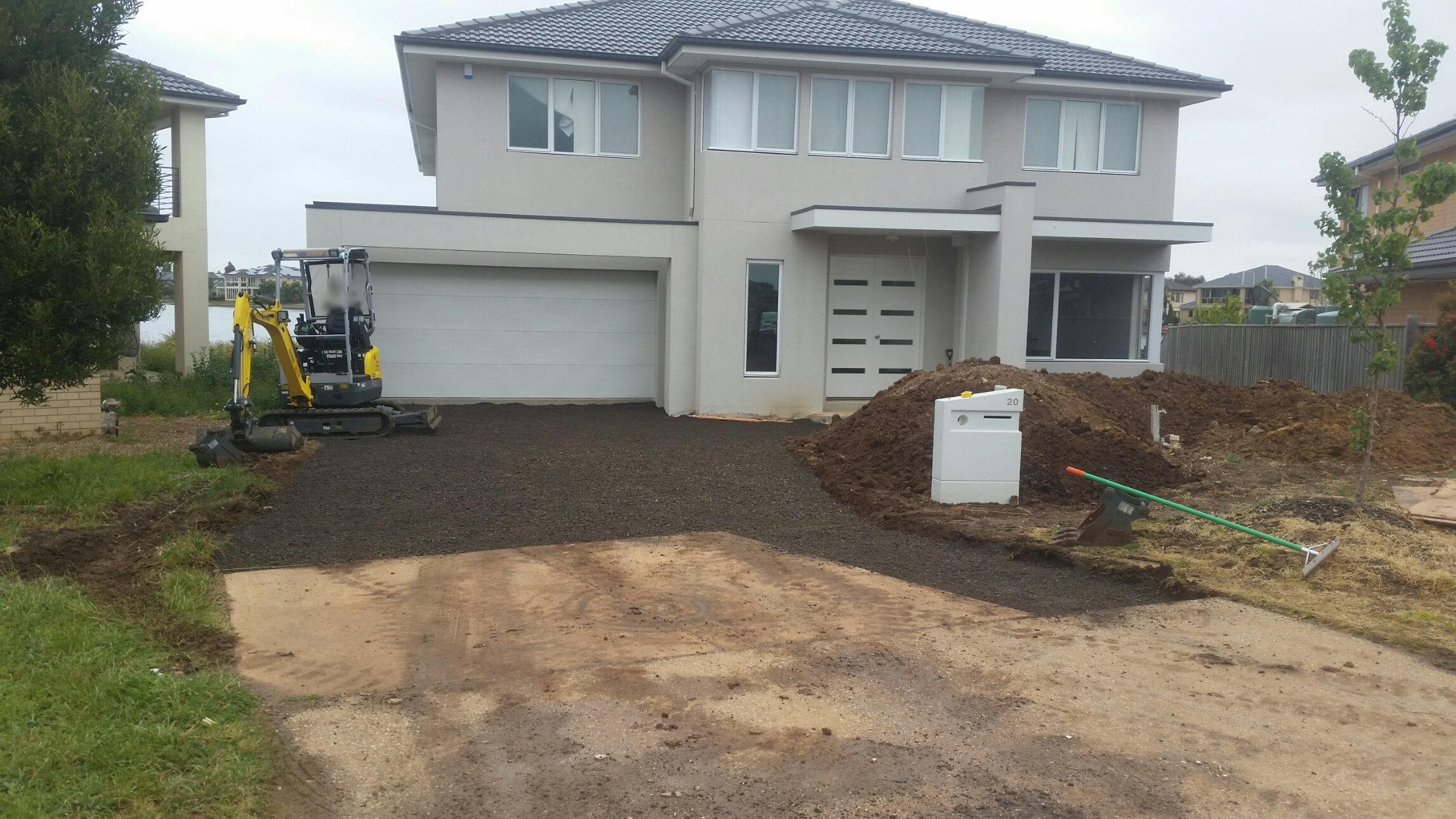 Driveway Roadbase Laying