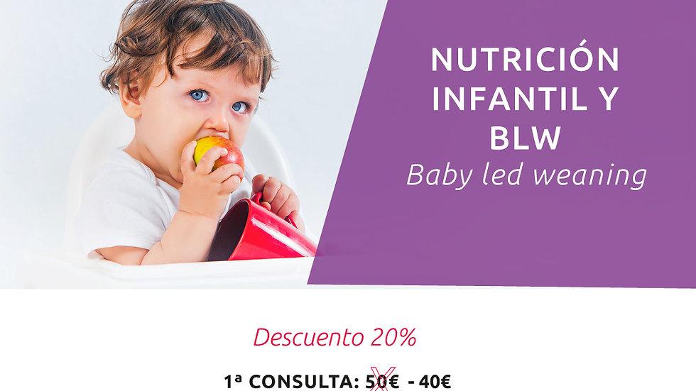 """Pago de """" CITAS NUTRICIÓN INFANTIL"""" reservada previamente"""