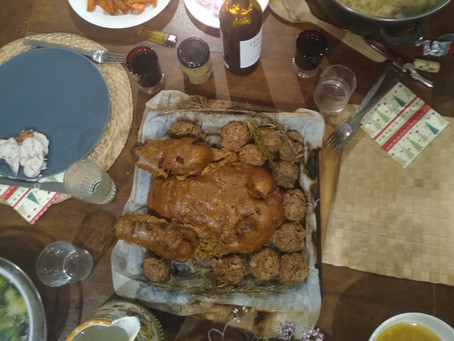 Vegan Stuffed Christmas Turkey