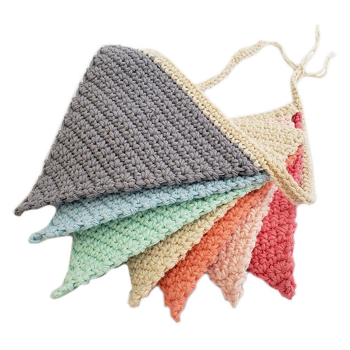 Banderin Arco iris tejido