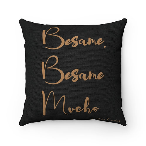 Besame Mucho Polyester Square Pillow