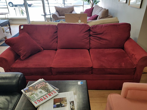Red Corduroy Lazy Boy Couch