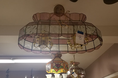 Pink Double Glass Lamp