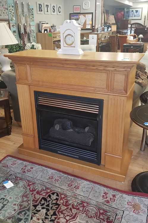 Faux Mantle with gas fireplace