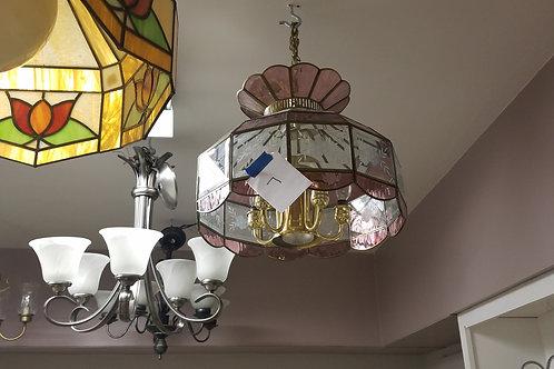 Pink Single Glass Lamp