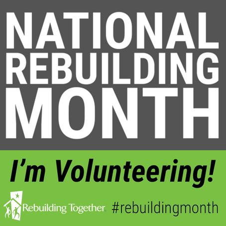 April is National Rebuilding Month!