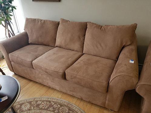 Beige Microsuede Sofa