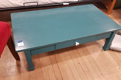 Low Teal Coffee Table