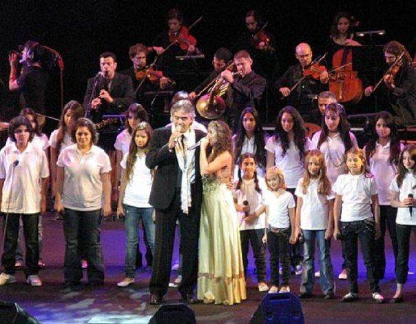 Liel Kolet and Andrea Bocelli