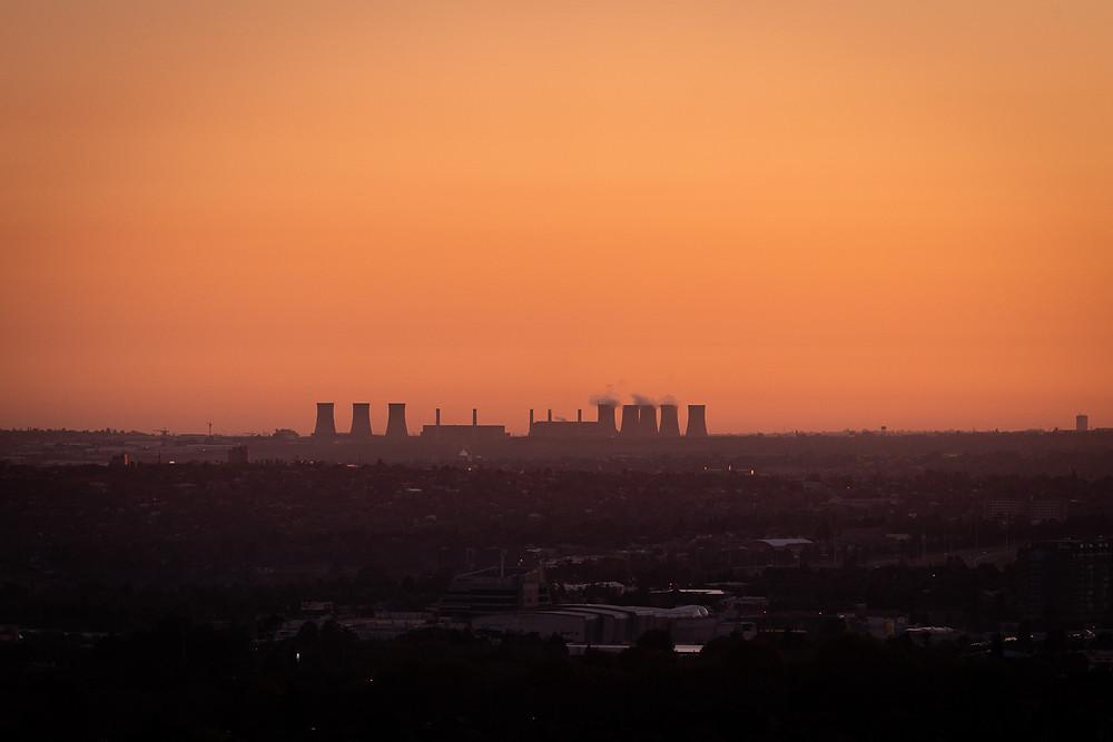 Isando Power Station at Sunrise