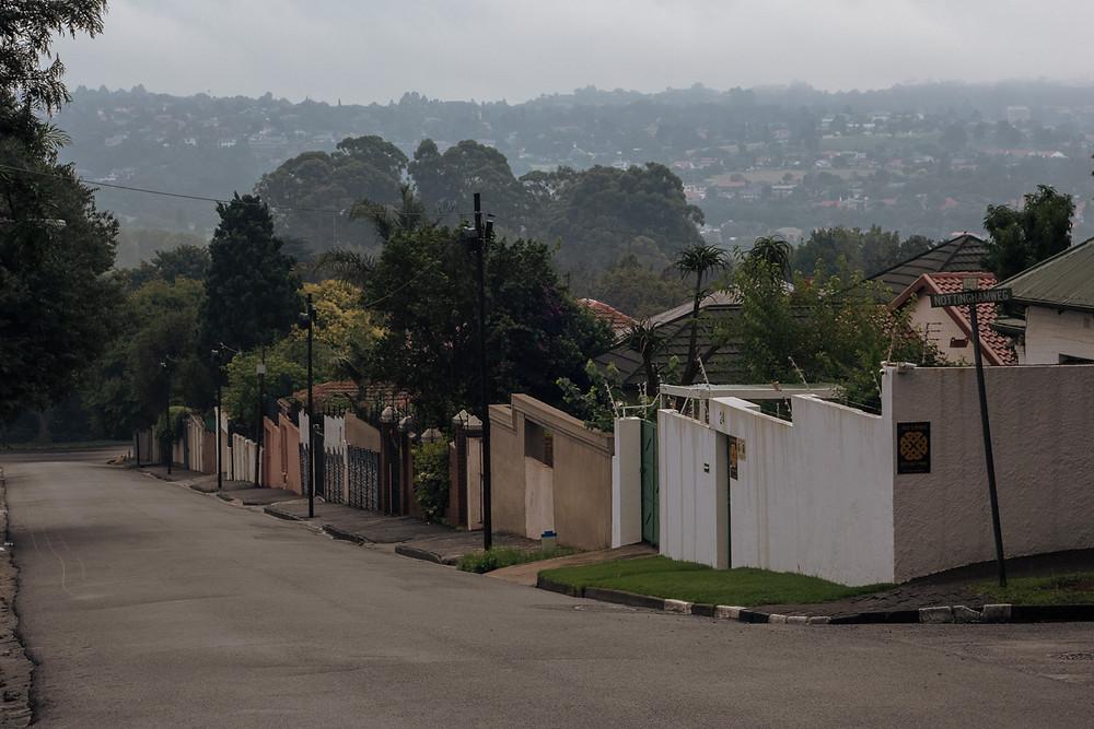 Rainy summer morning in the Johannesburg suburb of kensington
