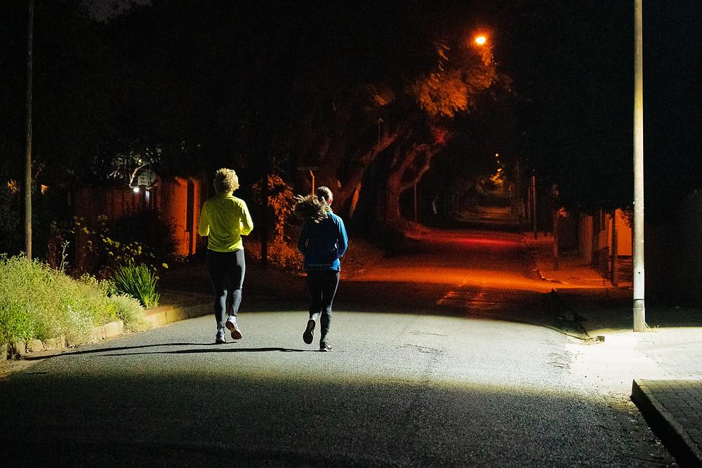 Runners in Kensington