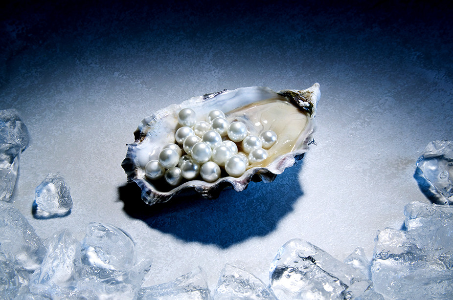 Pearls in an oyster
