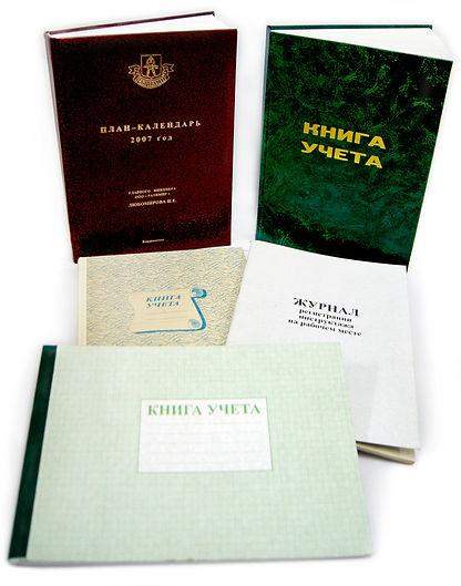Книги учета, выпущенные типографией «ЛАИНС»