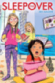 The Sleepover Jen Malone book cover