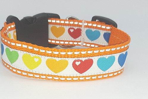 Hundehalsband orange reflektierend