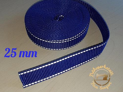 Reflektierende Halsbänder blau - 25 mm breit -