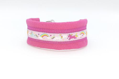 Zugstopphalsband pink