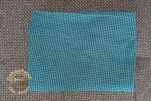 Halstuch blau/schwarz kariert
