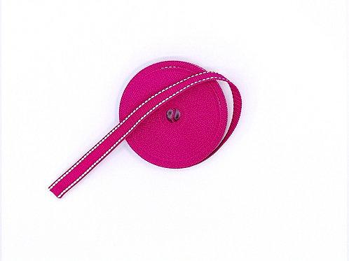 besticktes Halsband - pink reflektierend