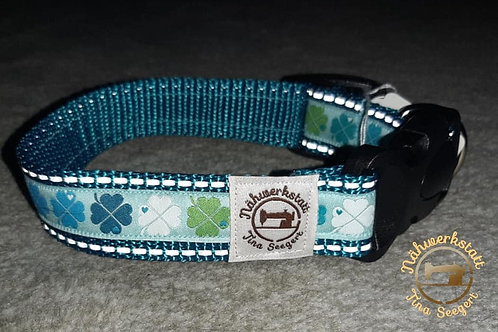 Reflektierende Halsbänder türkis - 25 mm breit -