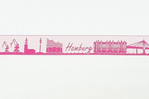 """Führgeschirr """"Lucky"""" Hamburg; Webband pink / weiß"""