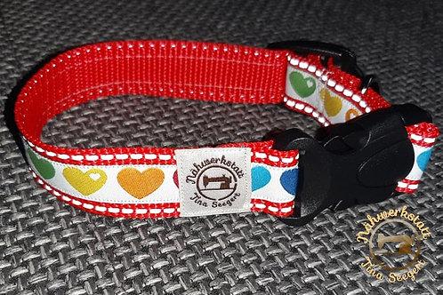Reflektierende Halsbänder rot - 25 mm breit -