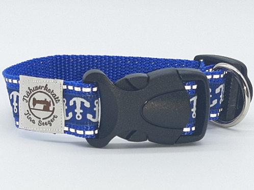 Hundehalsband blau reflektierend