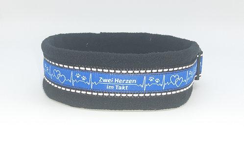 Hundehalsband schwarz reflektierend
