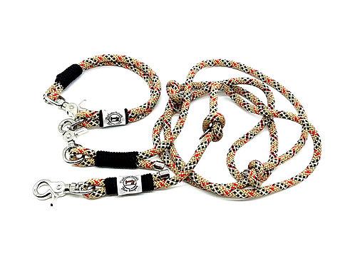Set Leine (2 Meter) und Halsband aus PPM-Seil