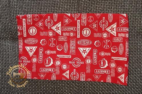 Halstuch rot mit Emblemen