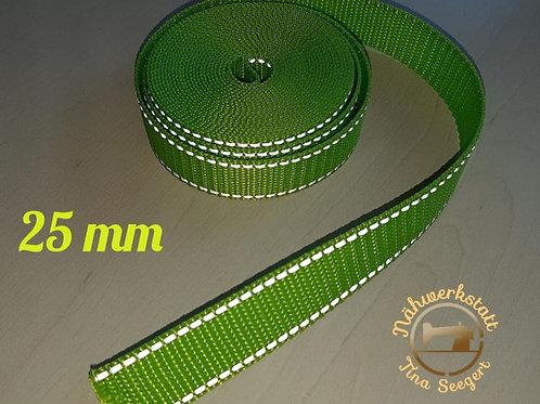 Reflektierende Halsbänder grün - 25 mm breit -