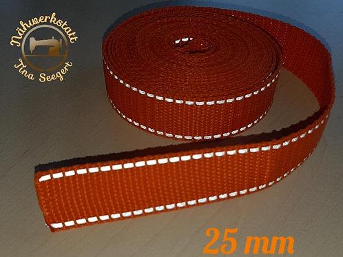 Reflektierende Halsbänder orange - 25 mm breit -