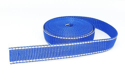 besticktes Halsband - blau reflektierend