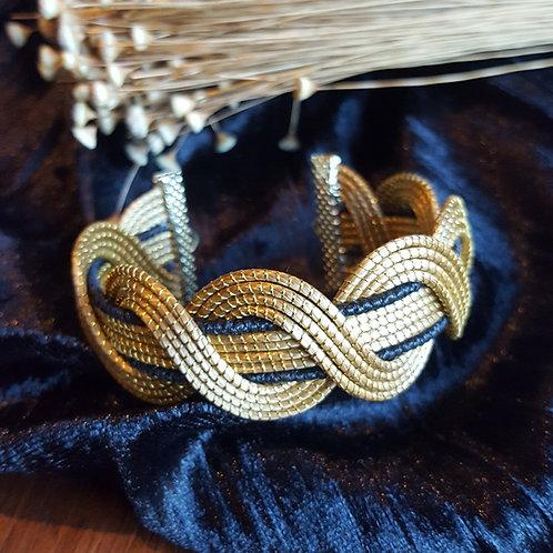 Bracelet spirale capim et noir