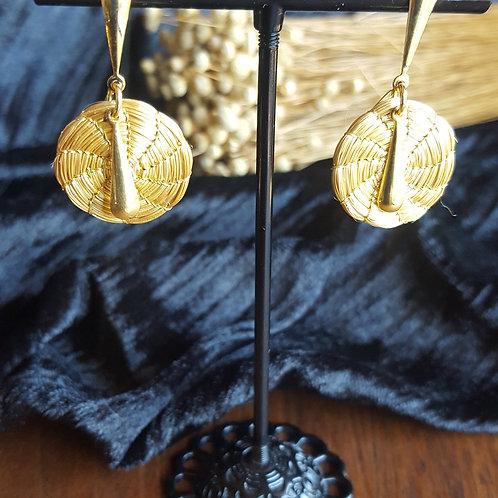 Boucles mini mandalas avec décoration