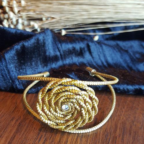 Bracelet anneaux capim, tresse de capim serti strass