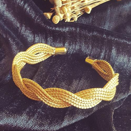 Bracelet 8 tiges de capim dourado entrelacées