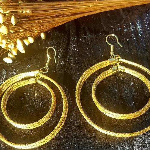 Boucles Capim double anneaux