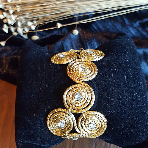 Bracelet enchevêtrement de spiral capim et strass