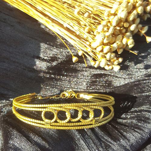 Bracelet tissé 5 ronds