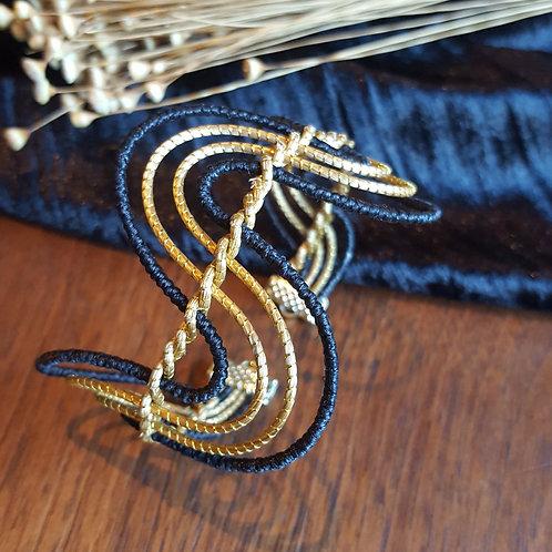 Bracelet serpentin capim et noir
