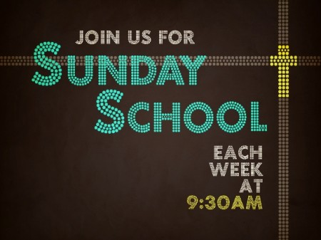 See you for Sunday School!