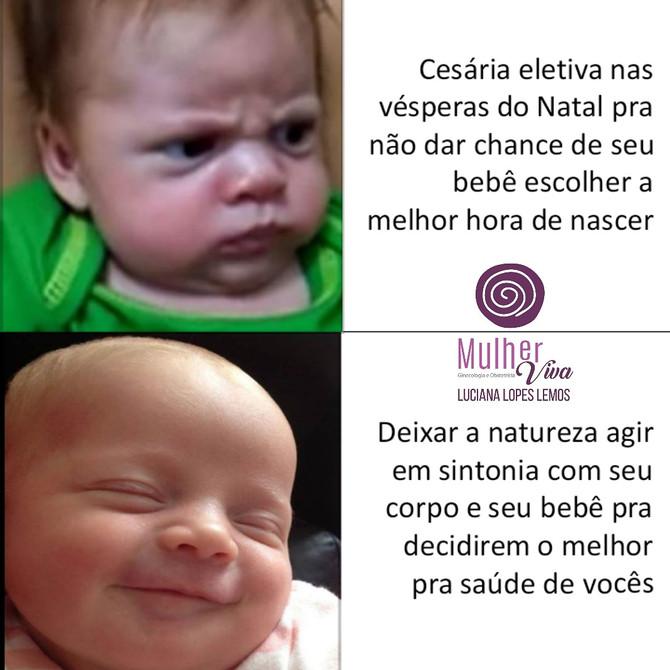 Bebês reagindo a cesária eletiva
