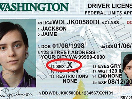 Washington State and Pennsylvania Will offer a 3rd Gender Option on Driver's Licenses