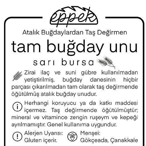 10 Kg Tam Buğday Unu / Sarı Bursa