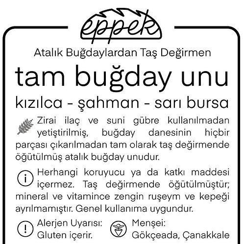 3 Kg Tam Buğday Unu / Kızılca & Şahman & Sarı Bursa Harmanı