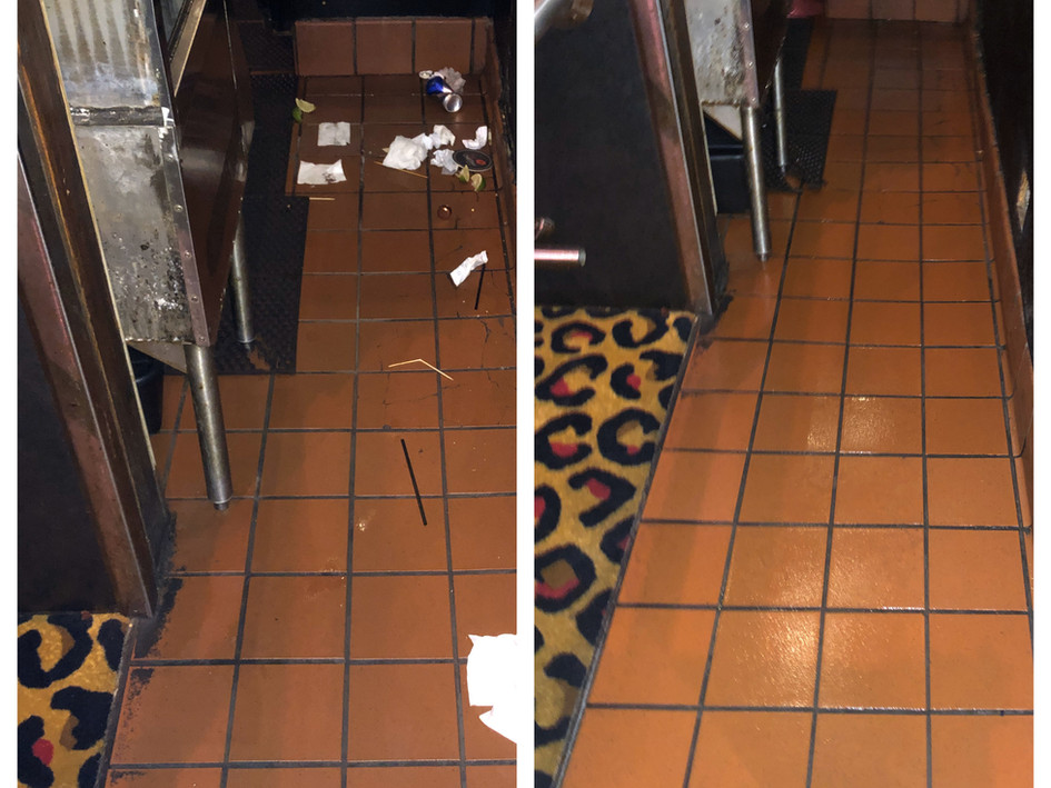 Bar Floors Before and After