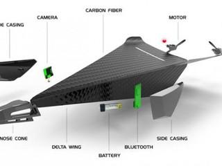 Carbon Flyer : un drone ultra-léger et en fibre de carbone, qui se pilote avec un smartphone